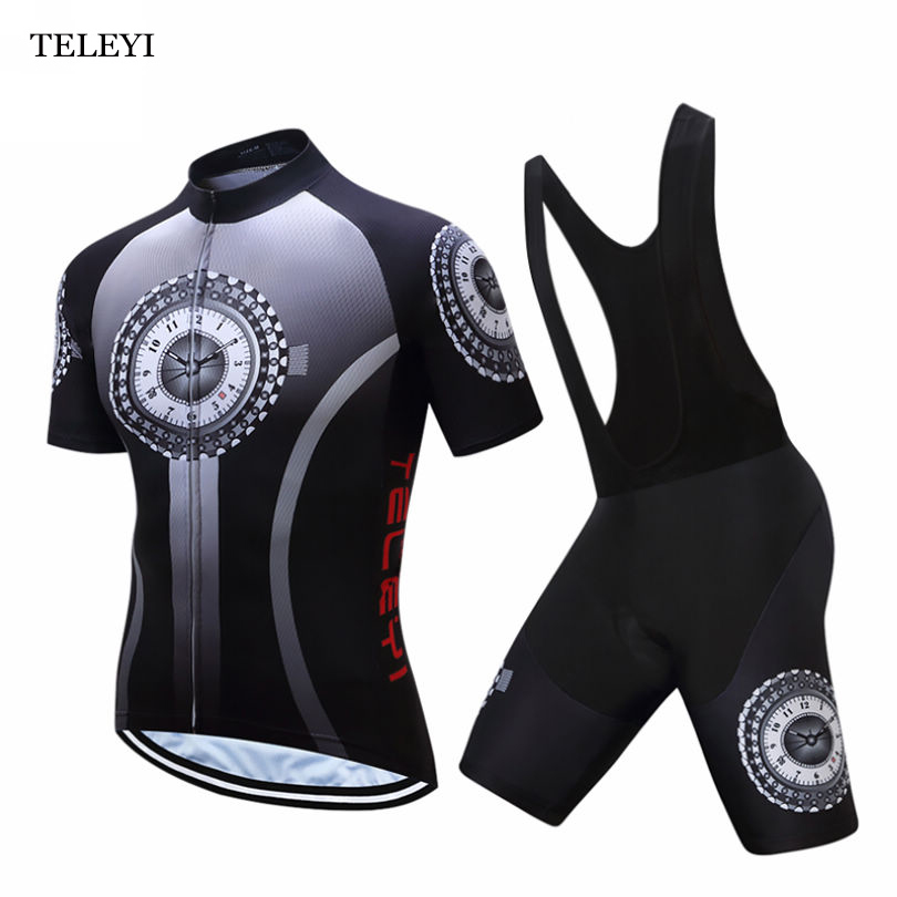 TELEYI Team Mens Cycling Jersey Ropa Ciclismo Padded Bib Shorts Bicycle Wear Outdoor Bike Uniforms Clothing Size S-4XLTELEYI Team Mens Cycling Jersey Ropa Ciclismo Padded Bib Shorts Bicycle Wear Outdoor Bike Uniforms Clothing Size S-4XL