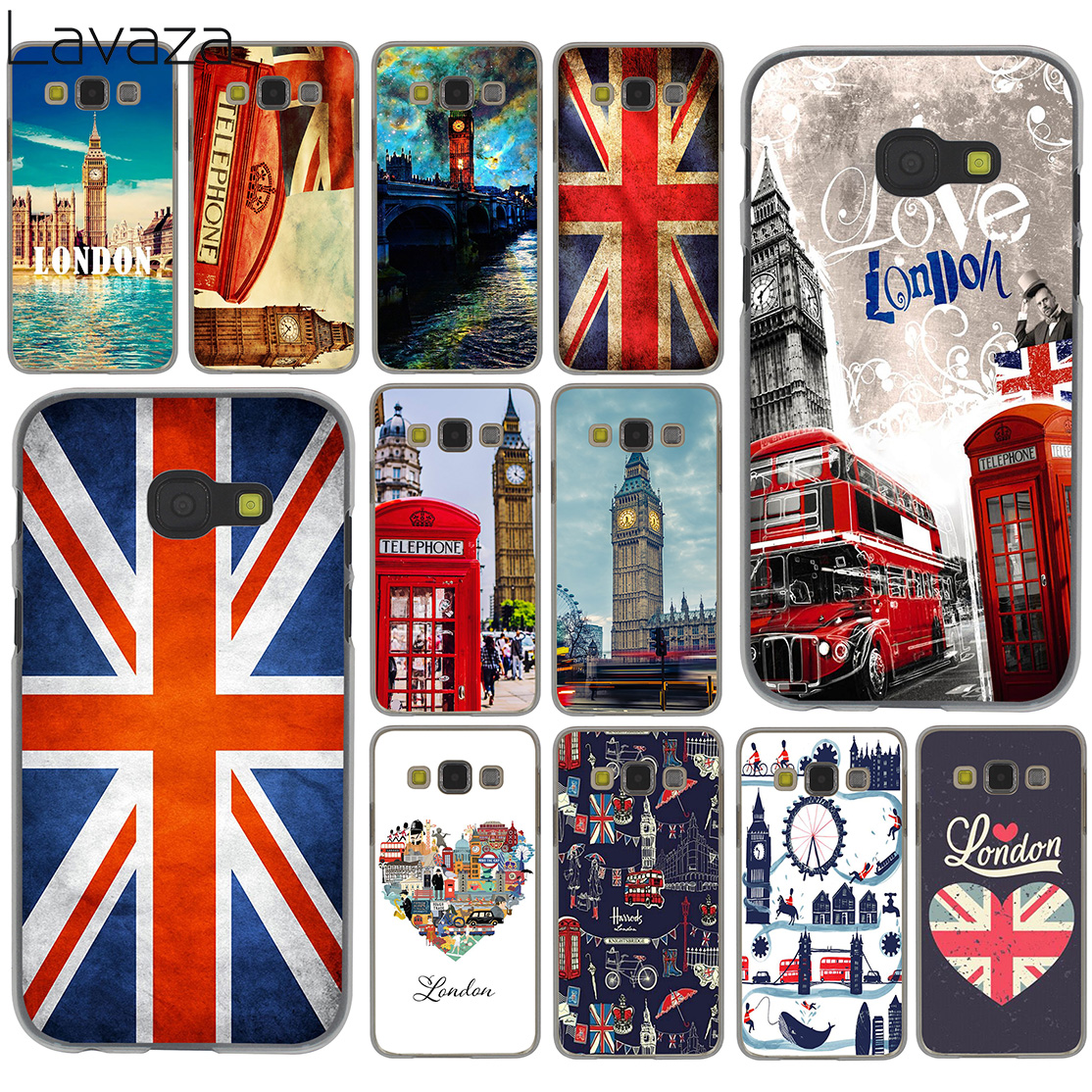 Lavaza Flag Storbritannien London Fodral för Samsung Galaxy Note 10 9 8 A9 A8 A7 A6 Plus 2018 A5 A3 2015 2016 2017 A2 Cover