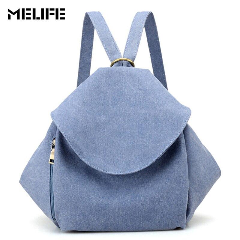 MELIFE Vintage Women Backpacks Female School Shoulder Bagpack Fashion Casual Bag Travel mochila For Teenage Girls Office Laides