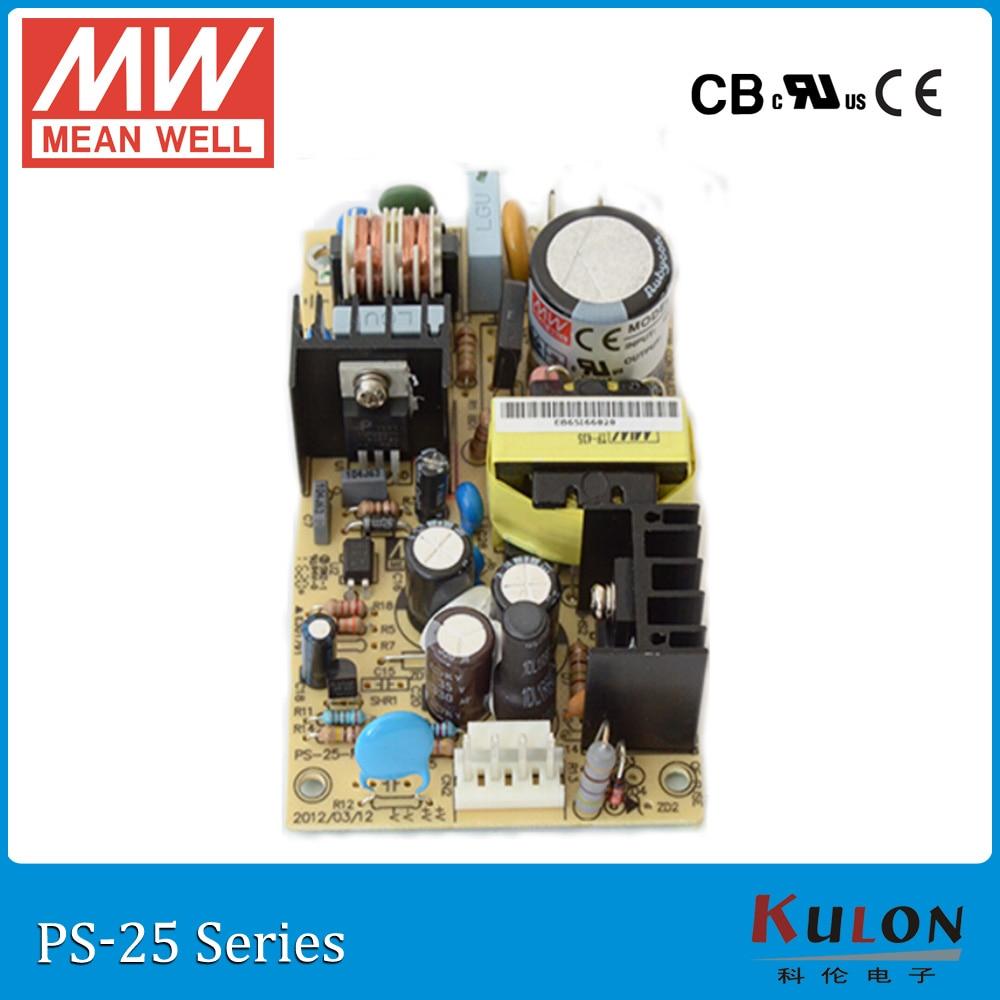 ᗗOriginal mean well PS-25-15 salida única 15 V 1.7A 25 W marco ...