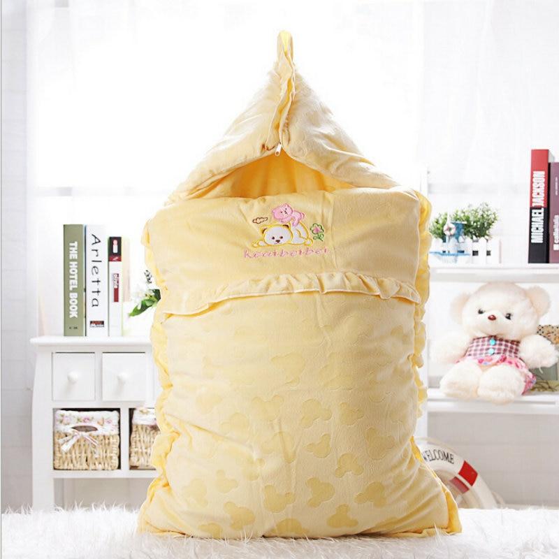 Lovely Cartoon Animal Coral Fleece Baby Blanket Soft Bedding Infant Quilt newborn <font><b>Sleeping</b></font> Bag Kid Toddler Swaddling winter