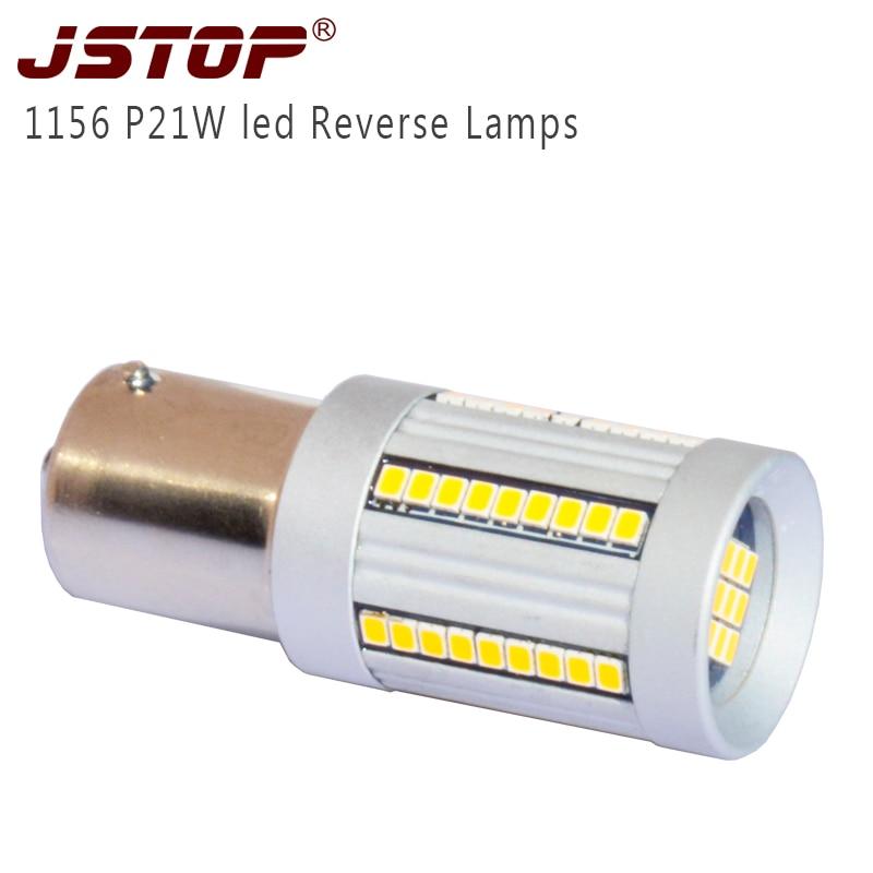 JSTOP high quality led car Reversing lights ba15s P21W 6000k led 1156 auto bulbs 100% No error Canbus 12VAC led Reverse lamps