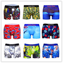 2017 Brand Calvn PuLL Men Underwear In Boxers Summer Fashion Sexy Boxer Short 100% Quick Dry Beach Swimsuit Bermuda Trunk Master