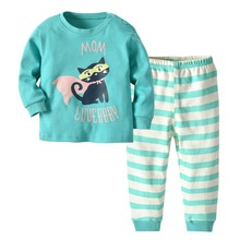 Cotton Casual Pajamas for Boys and Girls 2 pcs Set