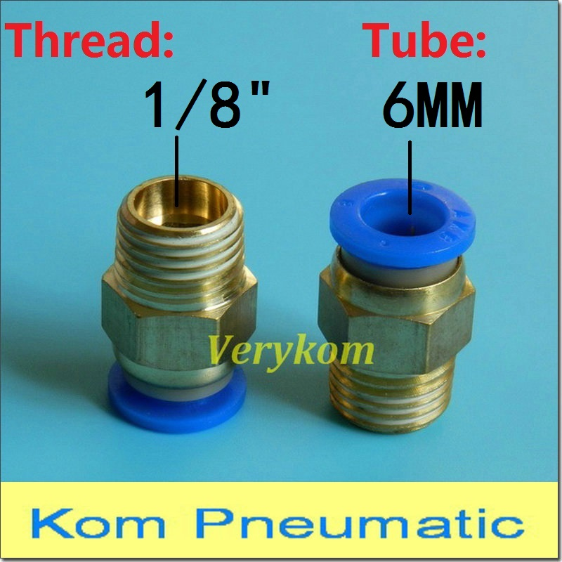 10pcslot 6MM Tube Size 18 Thread Pneumatic Male Straight One Touch Pipe Fitting Connectors PC6-01 Hose Fitting