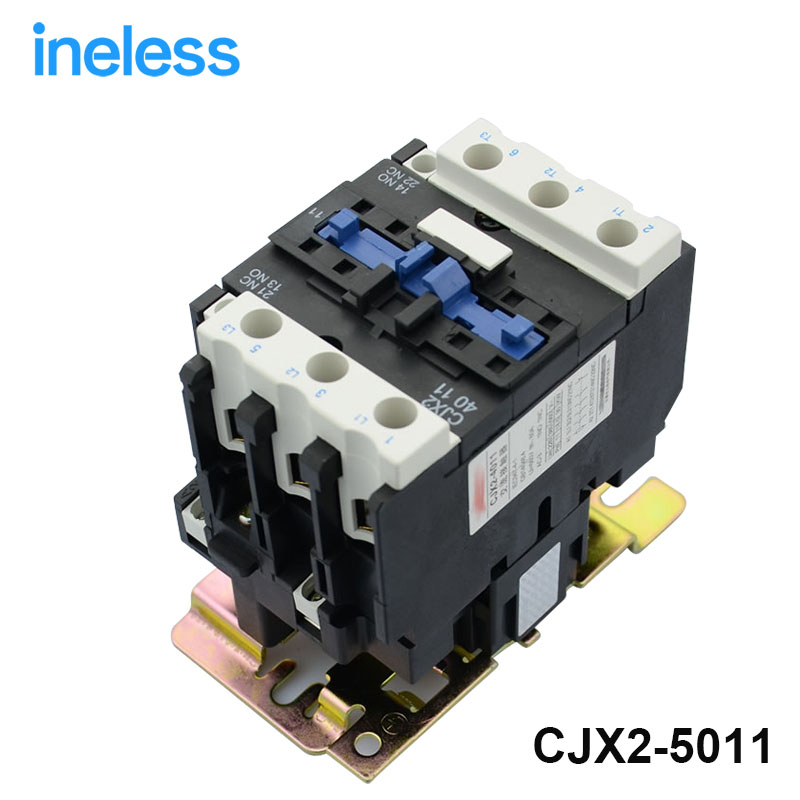 Contactor CJX2-5011 50A switches LC1 AC contactor voltage 380V 220V 110V Use with float switch lc2k series contactor lc2k12105 lc2k12105m7 lc2 k12105m7 220v ac