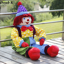 Doub K 95cm Circus clown dolls plush toys for children Appease doll Valentines Day gifts sleep pillow Stage performance props