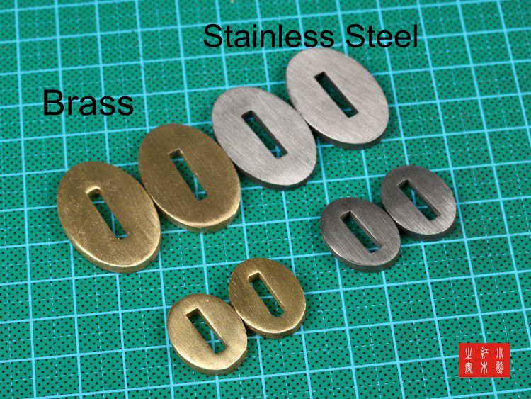 DIY Knife Handle Brass / Stainless Steel Guard Custom Knife Making Handle Bolster DIY Parts