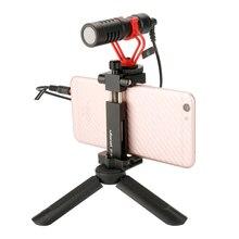 Mamen mini tripé para o telefone, tripé de vídeo de smartphone pega para dji osmo cardan de bolso gopro 7 6 5 4 zhiyun liso 4