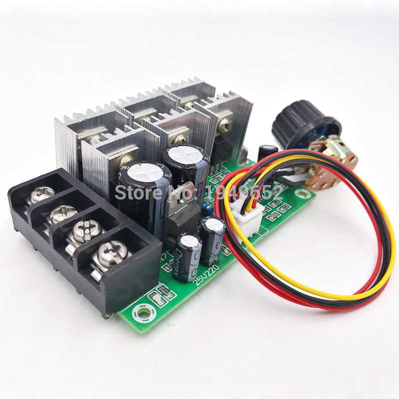 PWM DC Speed Brush Motor controller motor governor drive module 10V-55V MAX40A 0% - 100% цена
