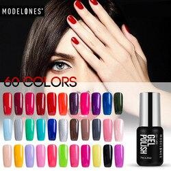 Modelones 7ML Classic Red Color Gel UV Nail Gel Lacquer Soak Off UV Lamp Nail Gel Polish Long Lasting Glitter UV Nail Polish
