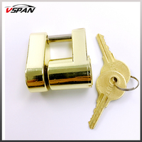 Trailer Hitch Coupler Lock Safer Towing For Trailers Campers Brass Trailer Boat RV Coupler Receiver Lock