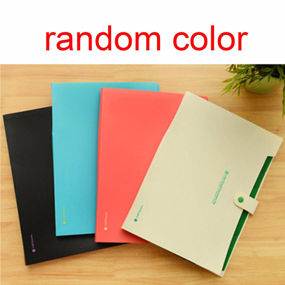 1pc A4 Plastic Paper File Folder Cover Holder Document Office Supplies Portfolio ...