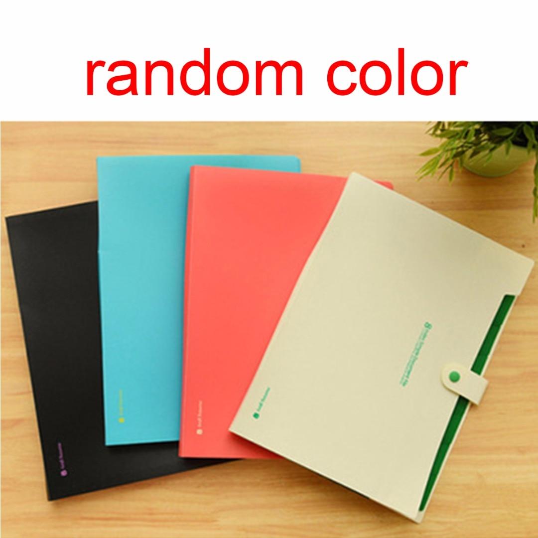 1pc A4 Plastic Paper File Folder Cover Holder Document Office Supplies Portfolio
