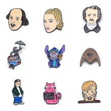V134 Home Alone Metal Enamel Pins and Brooches Fashion Lapel Pin Backpack Bags Badge Collection Gifts