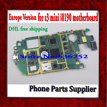 Europe Version Original i8190 Main Board with Chip, Unlocked For Samsung Galaxy S3 mini i8190 Motherboard DHL Free Shipping