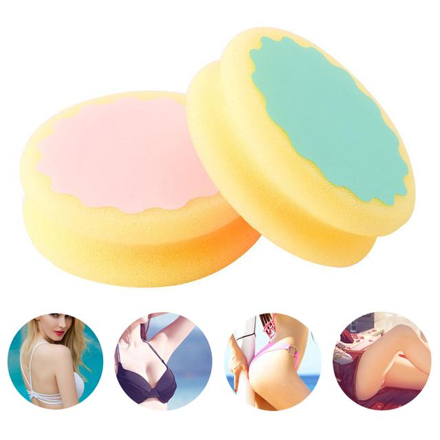 3 PCS 2 Colors Round Dual Sides Design Hair Removal Sponge Pad Multi Function Painless Face Arm Leg Women Skin Care Beauty Tool