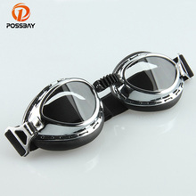 POSSBAY Copper Motorcycle Glasses Goggles Pilot Retro Vintag