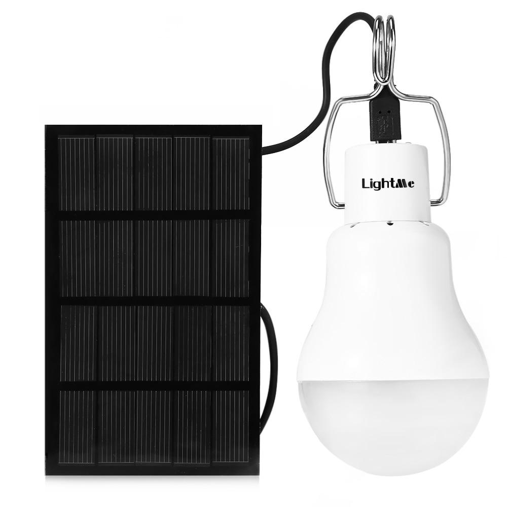 Outdoor Camping Licht S 1200 130LM Tragbare Led-lampe Licht Aufgeladen Solarenergie Lampe Tragbare Laternen Kugelbirnen Weiß