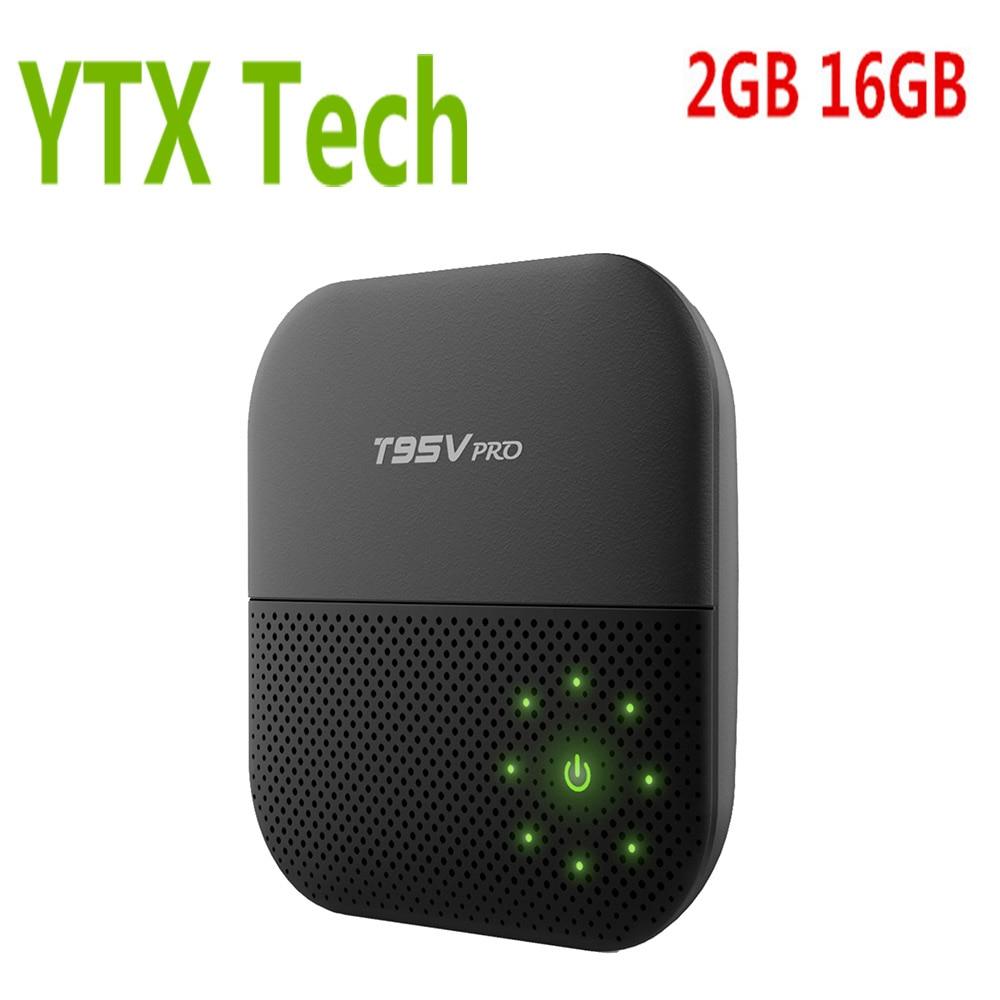 Dual Wifi Full HD Media Player 4K Support BT 4.0 2GB DDR3 16GB eMMC Octa Core Smart Android 7.1 Amlogic S912 TV Box T95V Pro smart android tv box zidoo x6 pro octa core hd 4k 3d 2gb 16gb h8 m8s network media player hdmi 2 0 bluetooth 4 0 dual wifi kodi