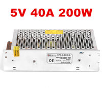 1PCS 200W 40A 5V Power Supply 5V 40A AC DC LED screen advertising outdoor screen power supply 110/230V S 200 5 DC5V
