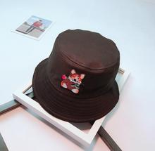 2018 New Cartoon Dog bucket hat for Men women Animal Patch cap Panama fishing hat male fisherman bape hat for Summer Lovers gift