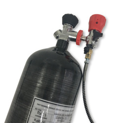 AC109301 كوندور pcp أسود 9L مسدس هواء مضغوط 5 5 اسطوانات الأكسجين pcp بندقية الهواء تحت الماء الصيد airsoft co2 hpa 300bar