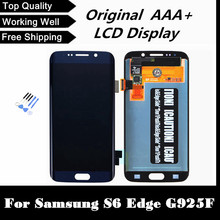 100% Tested Working Well Phone LCD for Samsung Galaxy S6 Edge G925 G925F LCD Digitizer Assembly Frame – Dark Blue/White/Gold
