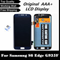 100% probado bien de trabajo lcd del teléfono para samsung galaxy s6 edge g925 g925f lcd digitalizador asamblea frame-azul oscuro/blanco/oro