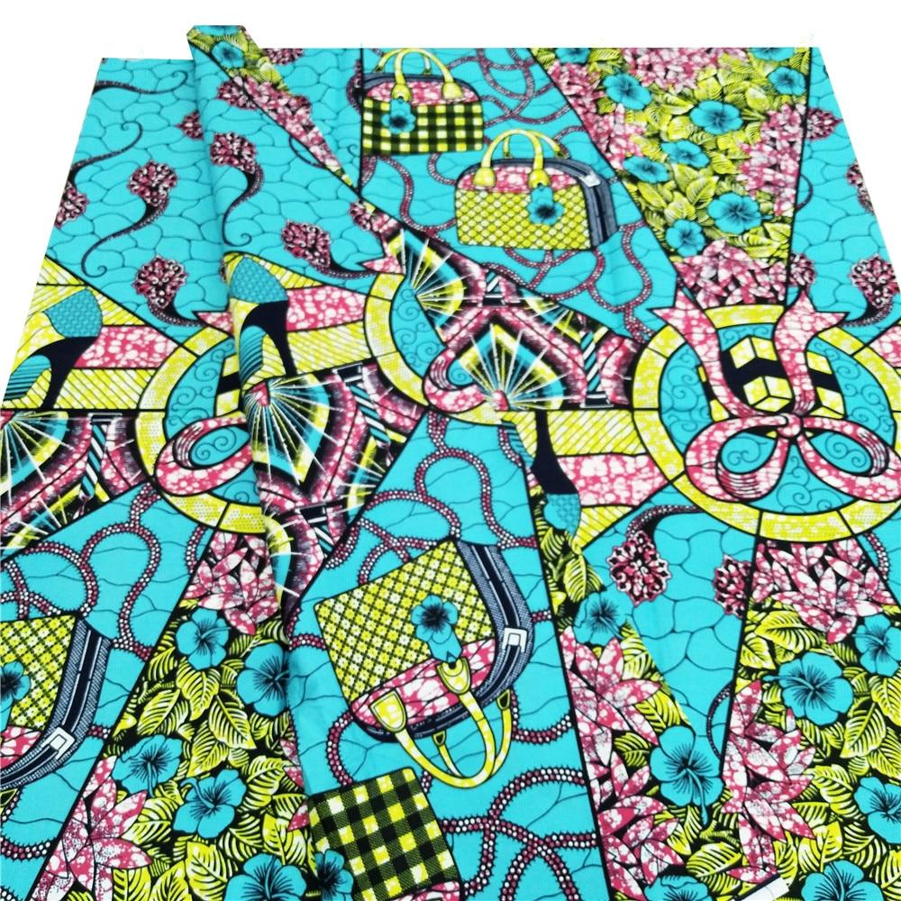 Printed pattern 100 cotton dutch ankara wax African wax prints fabric 6 yards in Fabric from Home Garden