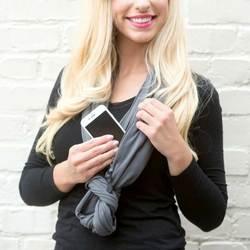 Grandwish конвертируемая Бесконечность шарф с карманом узор Бесконечность шарф с карманом на молнии универсальные модные женские шарфы, CI005