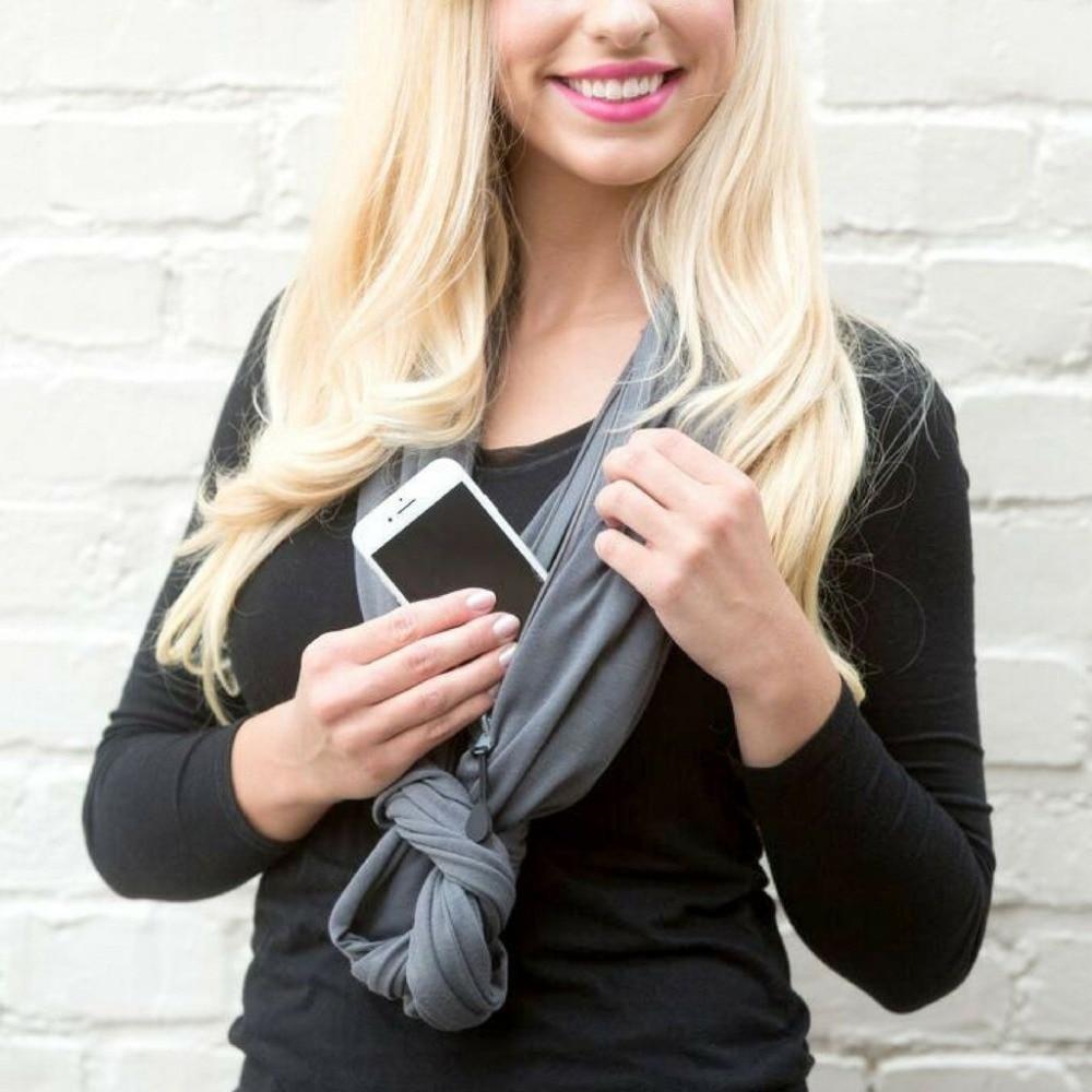 Grandwish lloguer de infinito bufanda con bolsillo patrón infinito bufanda con bolsillo con cremallera bolsillo del todo-fósforo de las mujeres de la moda bufandas CI005