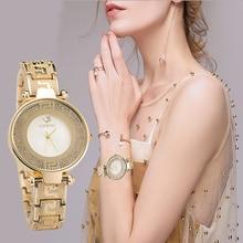 цена на ZONMFE Women Watch Luxury Brand Fashion Vintage Quartz Ladies Gold Watch Quartz Simple Clock Relogio Feminino Reloj Mujer Montre