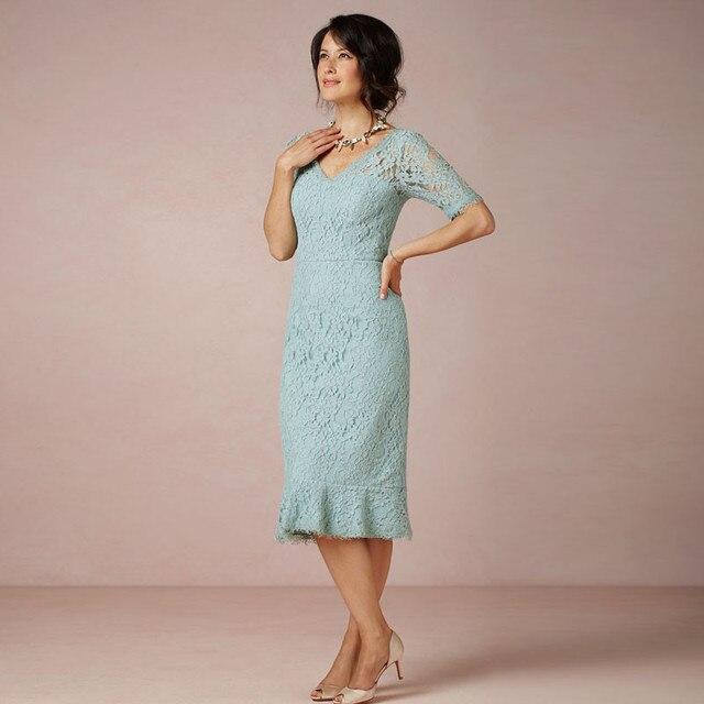 2017 Madre De la Novia Vestido de la Novia Para La Fiesta de Boda de Longitud de Té Elegante Vestido de La Madre Por Encargo