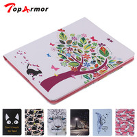 TopArmor High Quality Leahter Case Pattern Painting Cover Flip PU TPU Protection Cover Stand Shell For