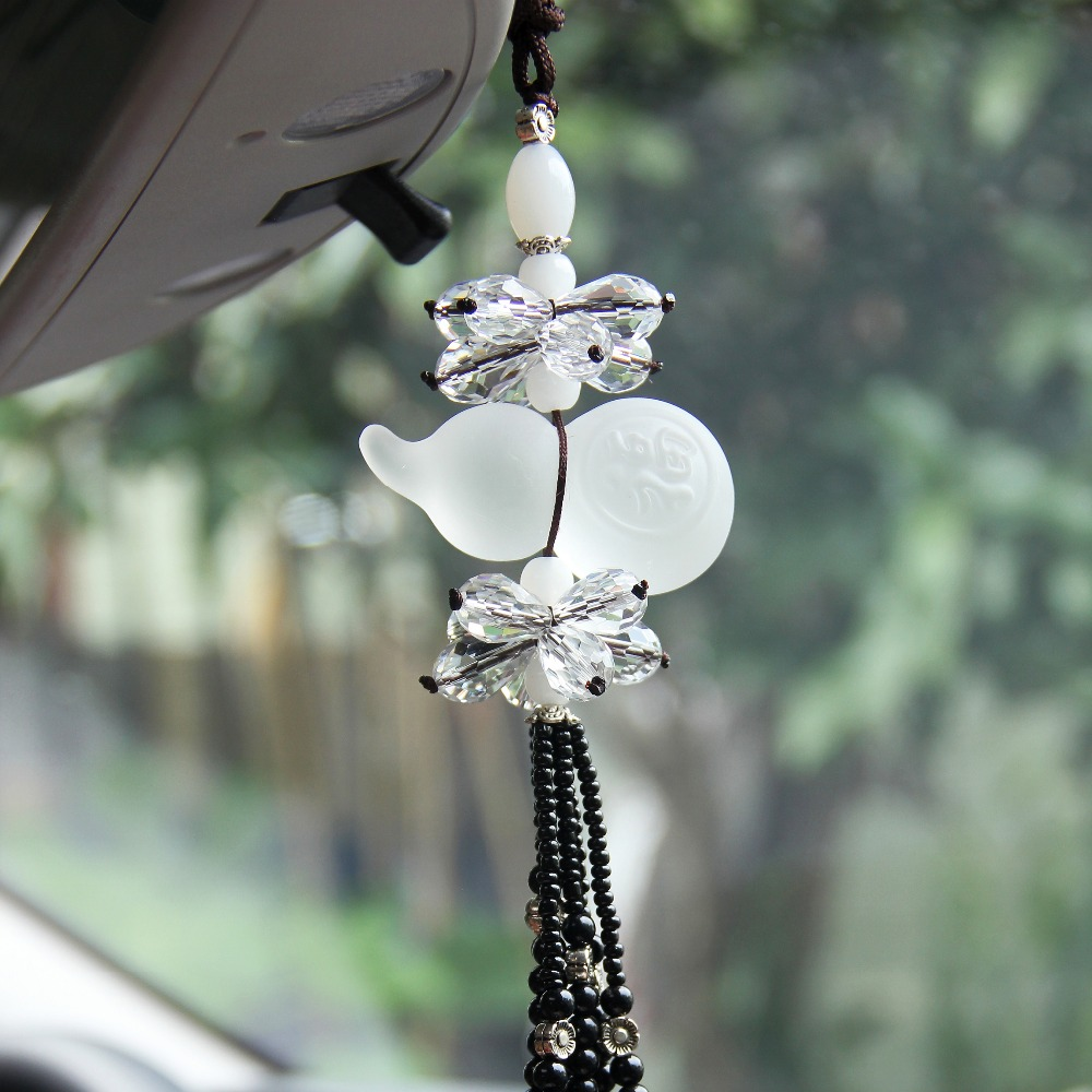 Crystal Car Styling Hanging Ornament Luxury Lucky Gourd