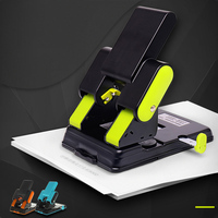 Metal Heavy Duty 2 Hole Punch Paper Cutter DIY Loose Leaf Punch Scrapbooking Tools Paper Puncher Office School Supplies