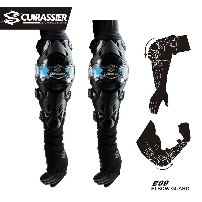 Motorcycle Protective Cuirassier Kneepad Knee Elbow Pads Protector Equipment Motocross Brace Guards Racing Elbowpad Protection
