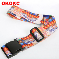 OKOKC Thermal Transfer Travel Luggage Belts Polyester Printing Luggage Straps Bundle With Password Adjustable Bags
