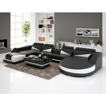 Popular modern relaxing comfortable round leather couch