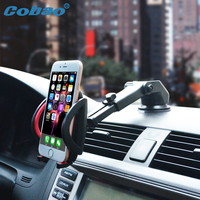 Cobao Universal Mobile Phone Holder Adjustable Strong Suction Sticky Windshield Holder Stand For Car Phone Accessories