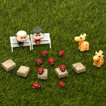 51pcs DIY Miniatures Garden Terrarium Figurines Ornaments Dollhouse