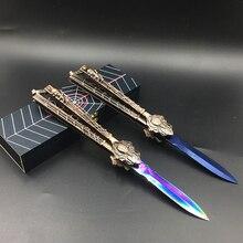 Practice knife butterfly in knife training knife blade Karambit folding Knife gi