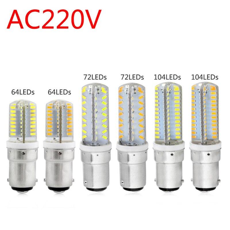1 шт., суперъяркие светодиодные лампы-кукуруза, 7 Вт, 9 Вт, 12 Вт, 15 Вт, 3014 SMD B15, В переменного тока