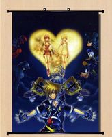 Anime game Poster Home Decor kingdom hearts Fans sora Wall Scroll Whole MX30