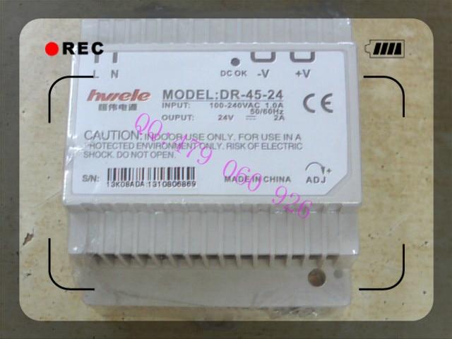 [ZOB] Heng Wei guide rail switching power supply 24V2A DR-45-24 45W  --3PCS/LOT