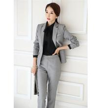 Professional trousers suit Fashion OL Slim professional pants suit long-sleeved suit overalls  women's costumes 2018