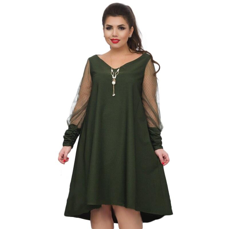 Loose Black Women Dress 2018 Plus size Summer Dress Sexy Mesh Beach Dress Big Size Sheer Party dress See Through Vestido 5XL 6XL