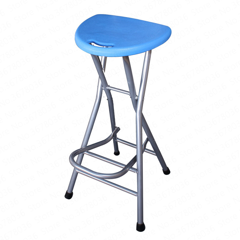 Folding Balcony Stool Bar Stool Portable High Stool Front Desk Chair Has A Footrest