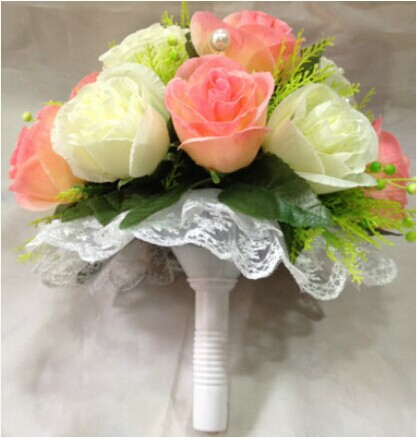 Plastic fresh flower bouquet holder handle bridal floral foam plastic fresh flower bouquet holder handle bridal floral foam wedding flower holder with whitepink mightylinksfo